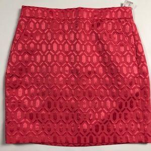 J Crew factory Ribbed Jacquard mini skirt NWT